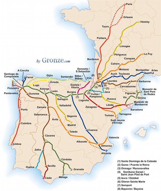 mapa Camino