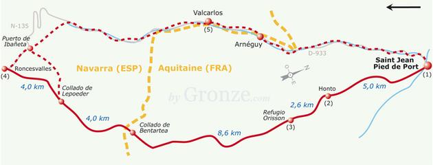 Camino de santiago przewodniki po camino camino - Camping municipal saint jean pied de port ...